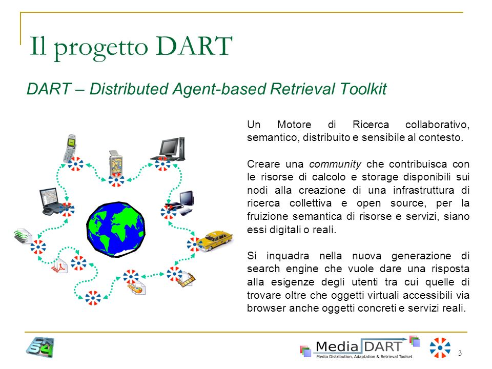 Il progetto DART DART – Distributed Agent-based Retrieval Toolkit
