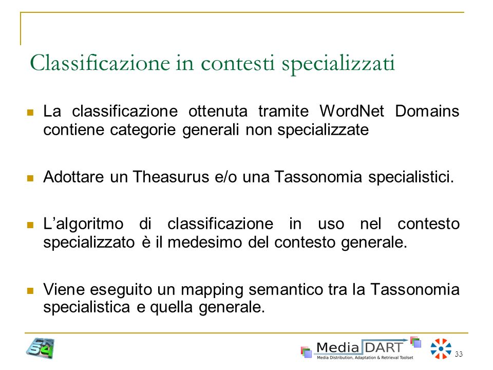 Classificazione in contesti specializzati