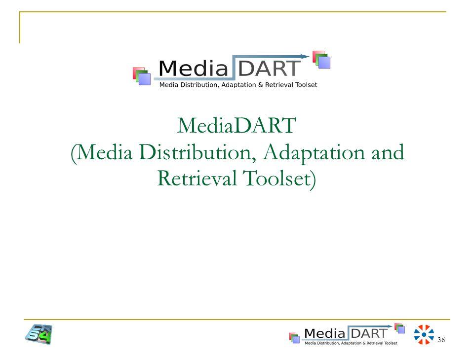 MediaDART (Media Distribution, Adaptation and Retrieval Toolset)
