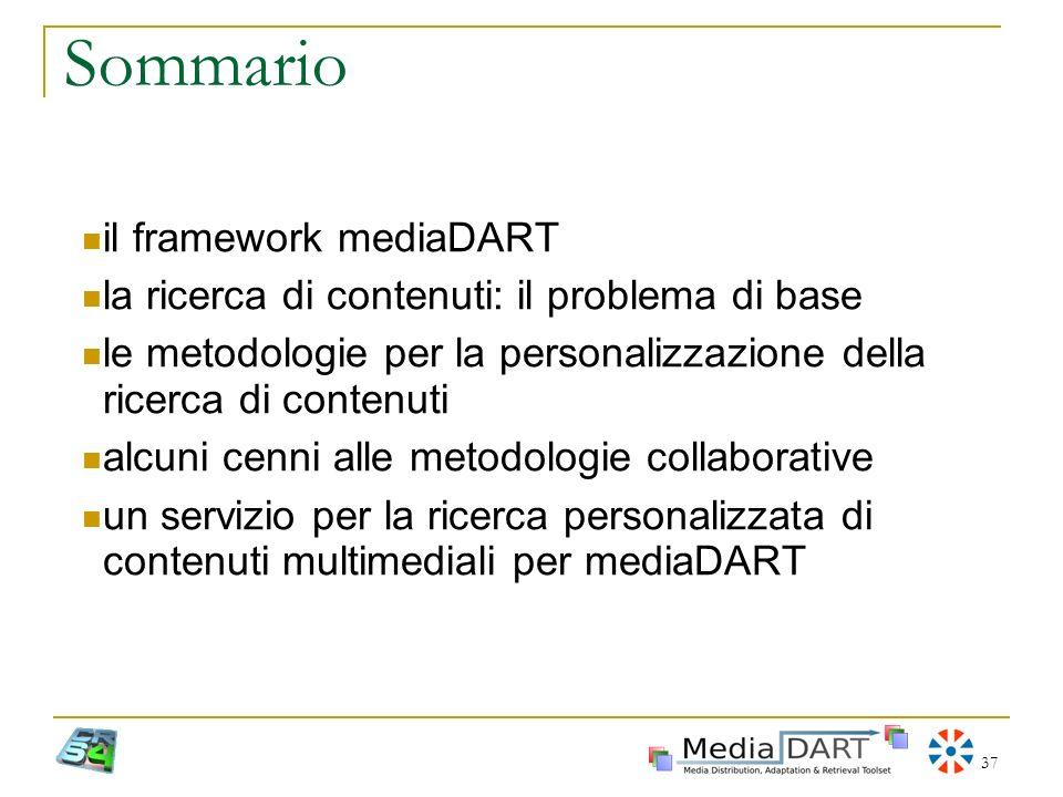 Sommario il framework mediaDART