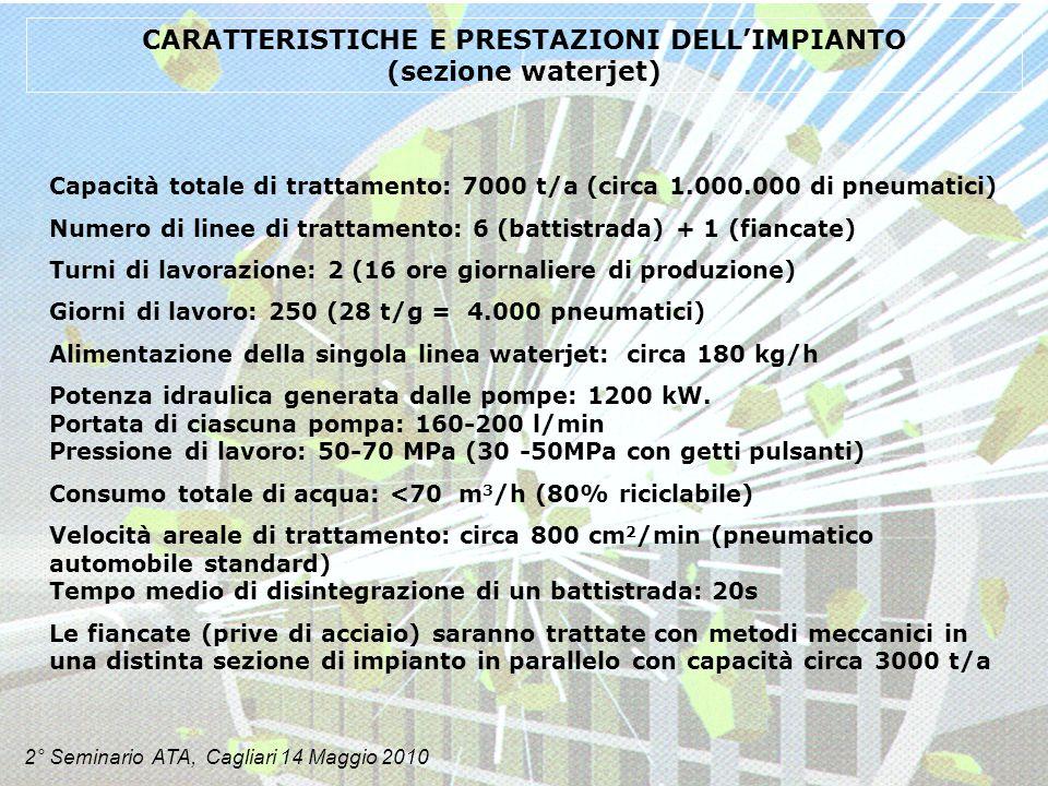 CARATTERISTICHE E PRESTAZIONI DELL'IMPIANTO