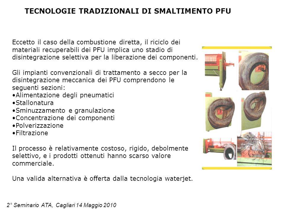 TECNOLOGIE TRADIZIONALI DI SMALTIMENTO PFU