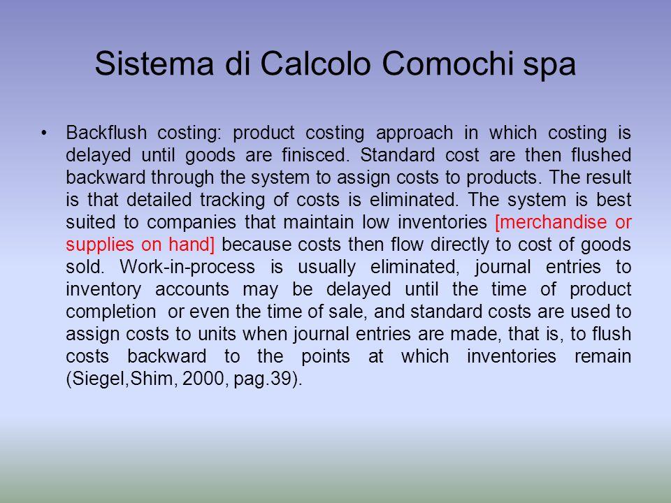 Sistema di Calcolo Comochi spa