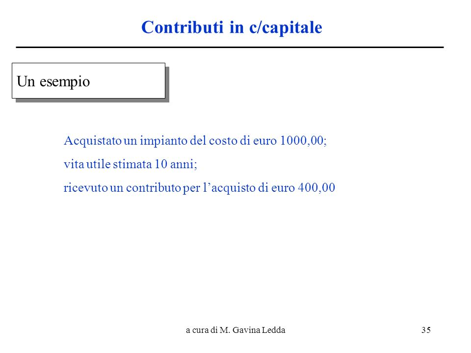 Contributi in c/capitale