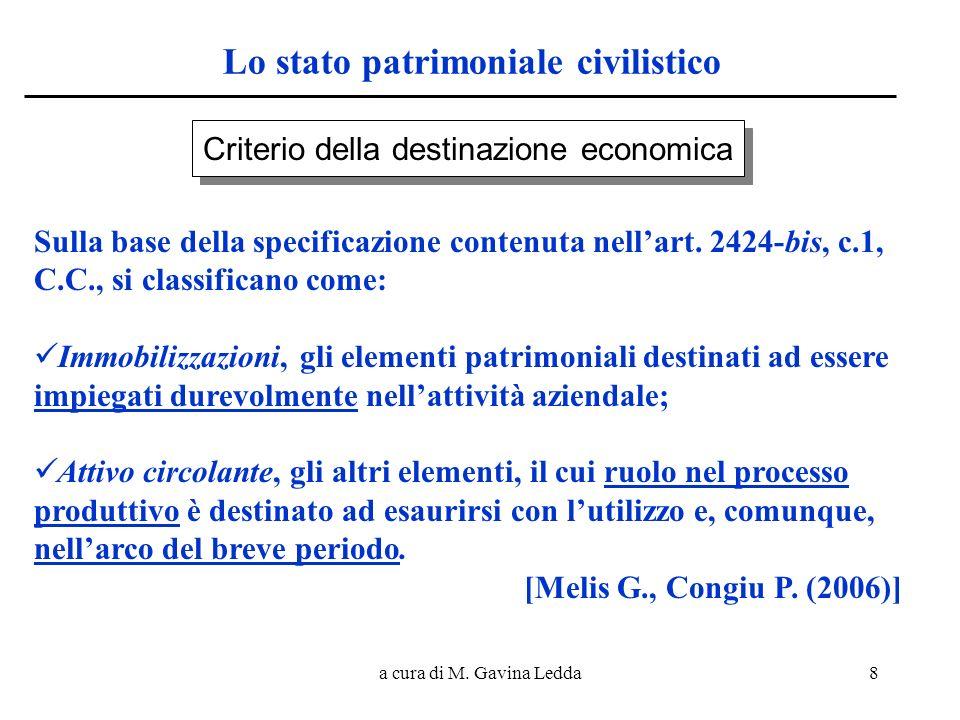 Lo stato patrimoniale civilistico