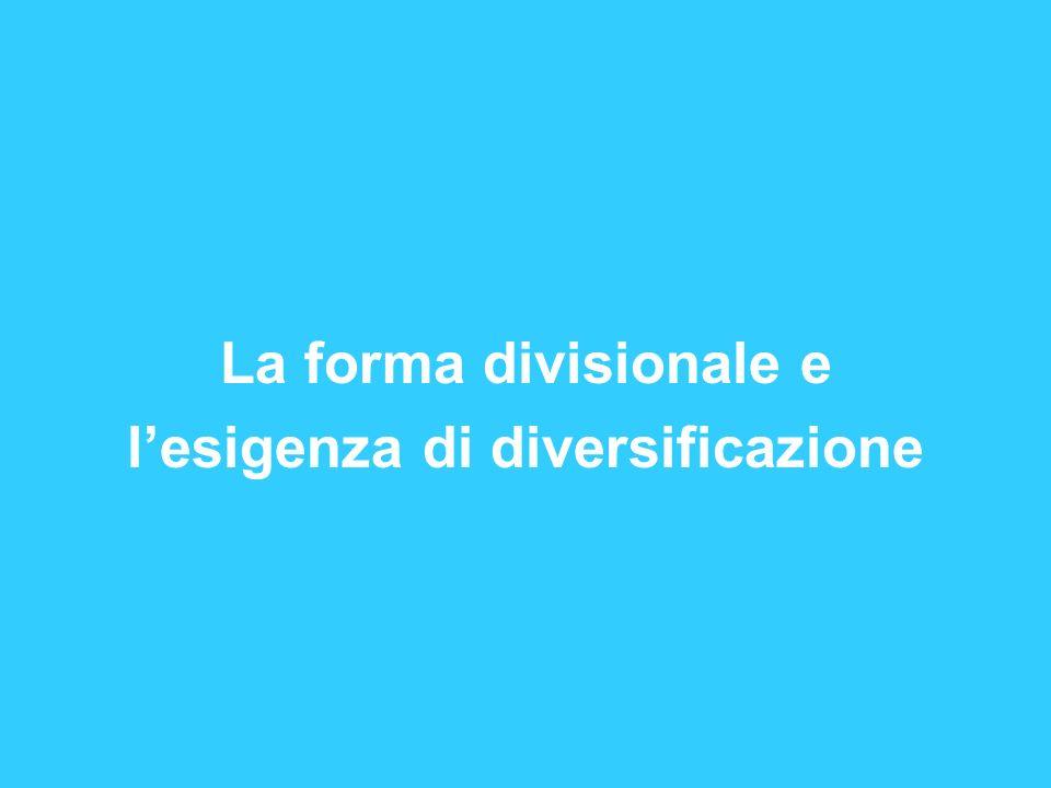 l'esigenza di diversificazione