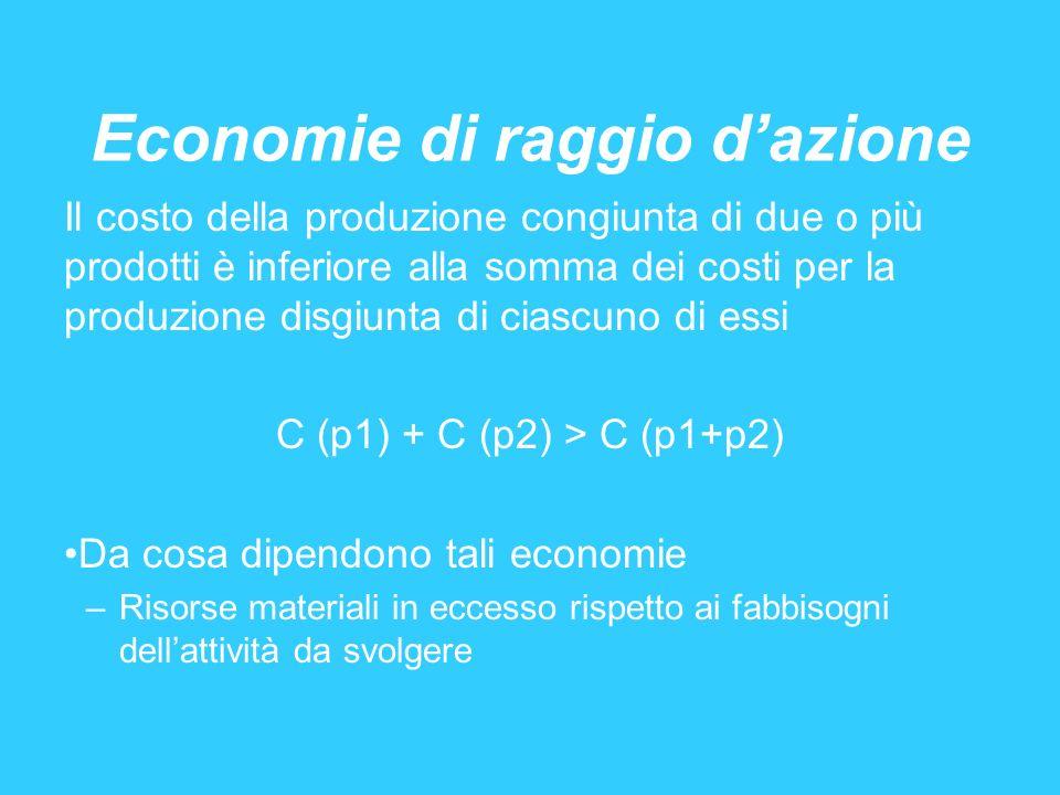 Economie di raggio d'azione