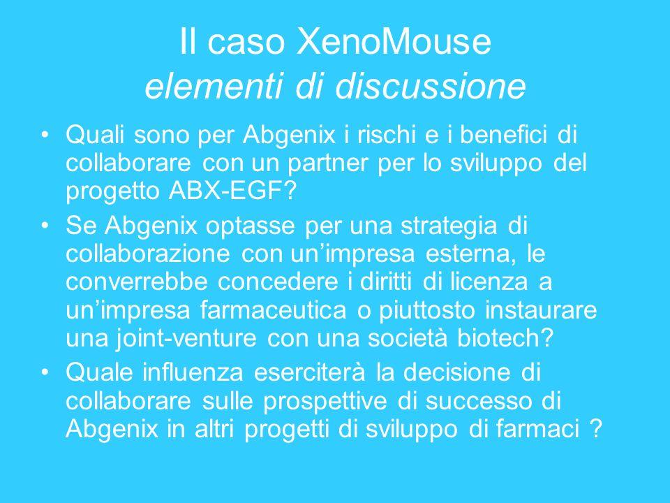 Il caso XenoMouse elementi di discussione