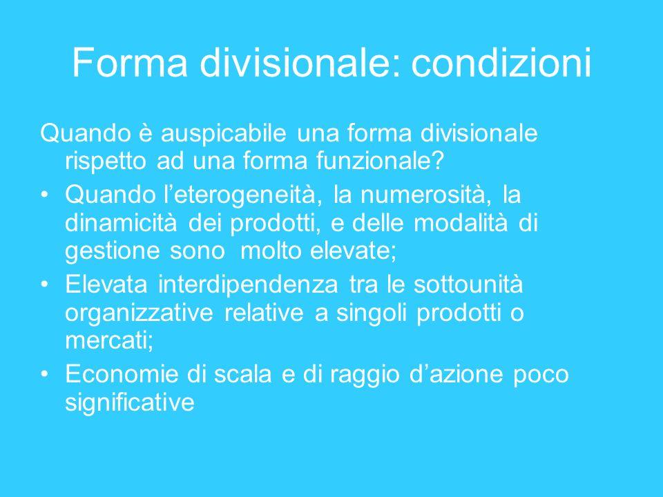 Forma divisionale: condizioni