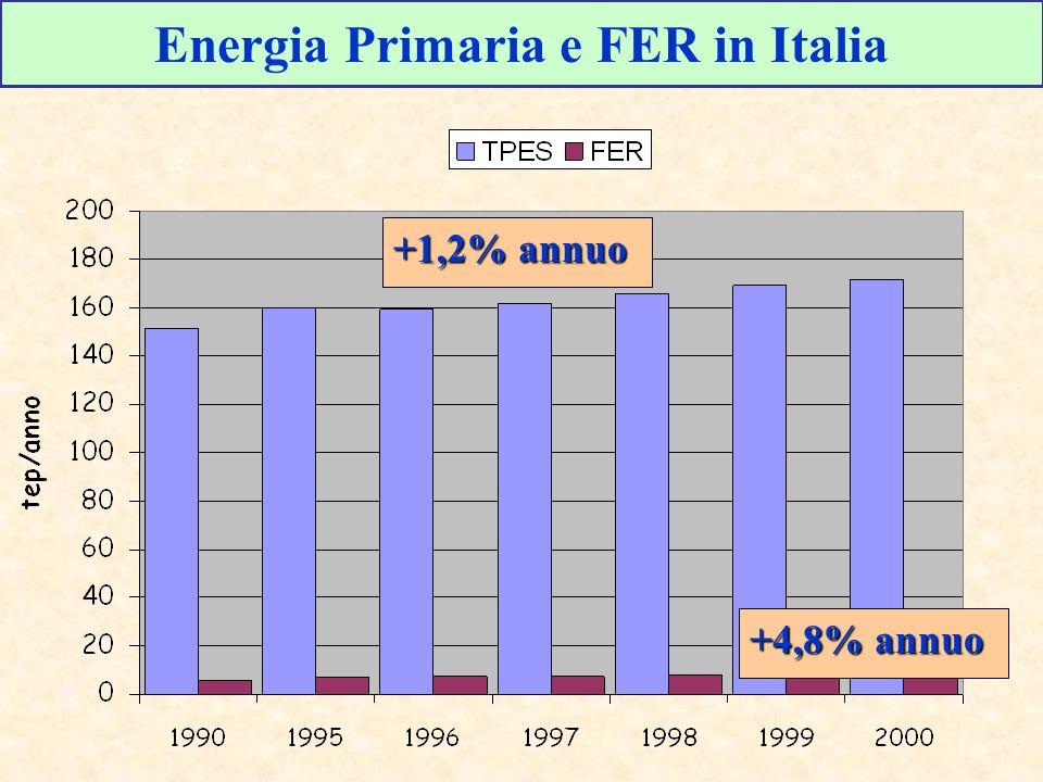 Energia Primaria e FER in Italia