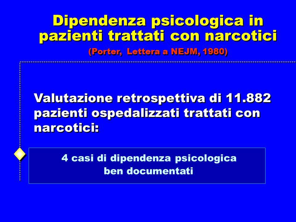 Dipendenza psicologica in pazienti trattati con narcotici