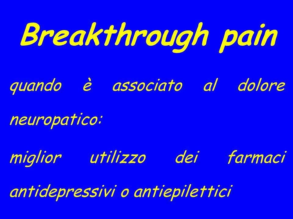Breakthrough pain quando è associato al dolore neuropatico: