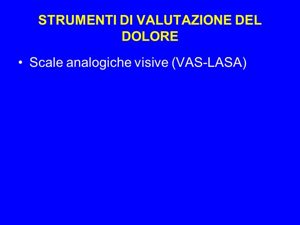 STRUMENTI DI VALUTAZIONE DEL DOLORE