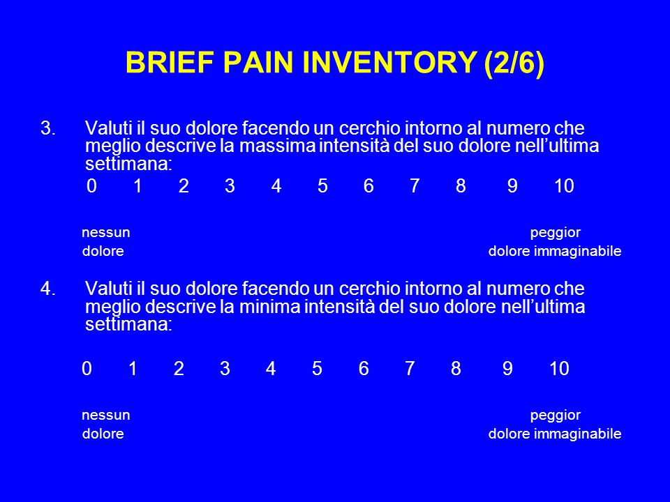 BRIEF PAIN INVENTORY (2/6)