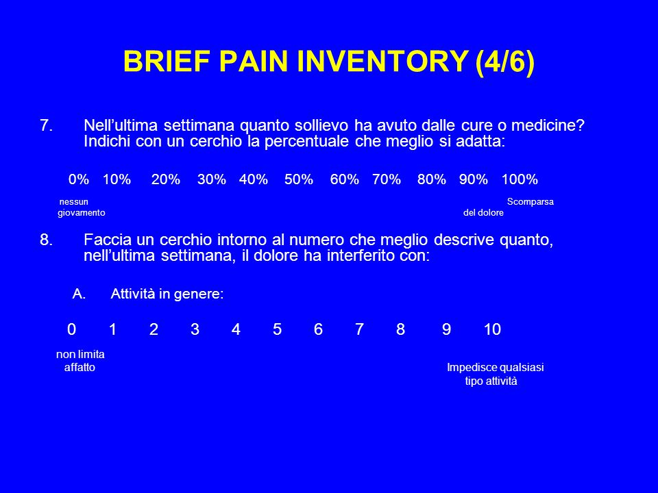 BRIEF PAIN INVENTORY (4/6)