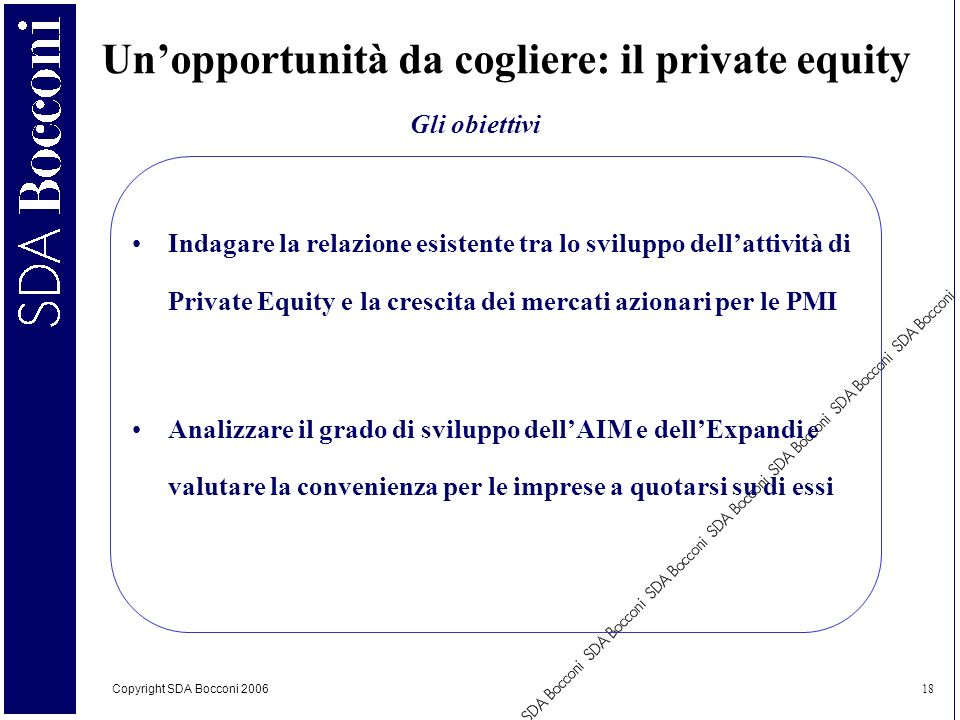 Un'opportunità da cogliere: il private equity