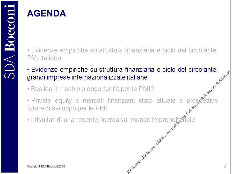 AGENDA Evidenze empiriche su struttura finanziaria e ciclo del circolante: PMI italiane.