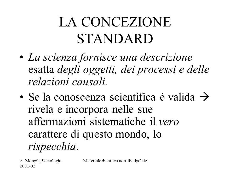 LA CONCEZIONE STANDARD