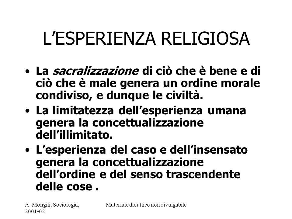 L'ESPERIENZA RELIGIOSA