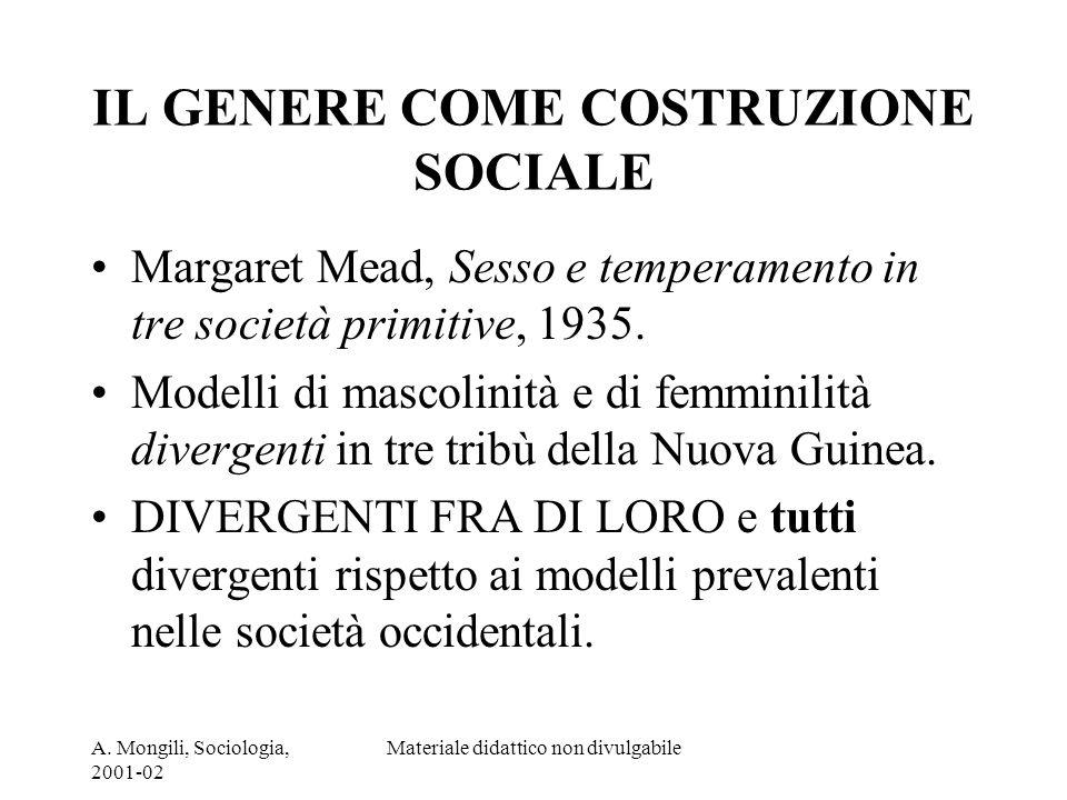 IL GENERE COME COSTRUZIONE SOCIALE