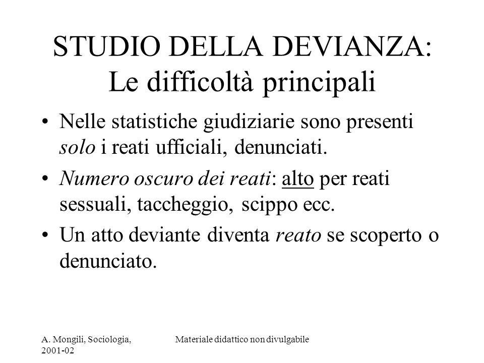 STUDIO DELLA DEVIANZA: Le difficoltà principali