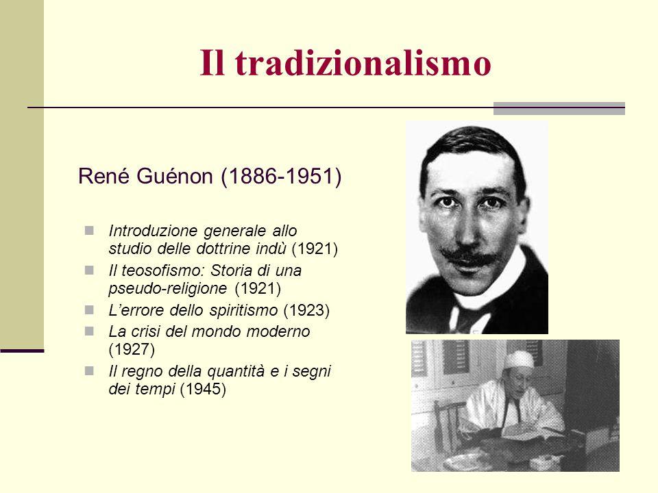 Il tradizionalismo René Guénon (1886-1951)