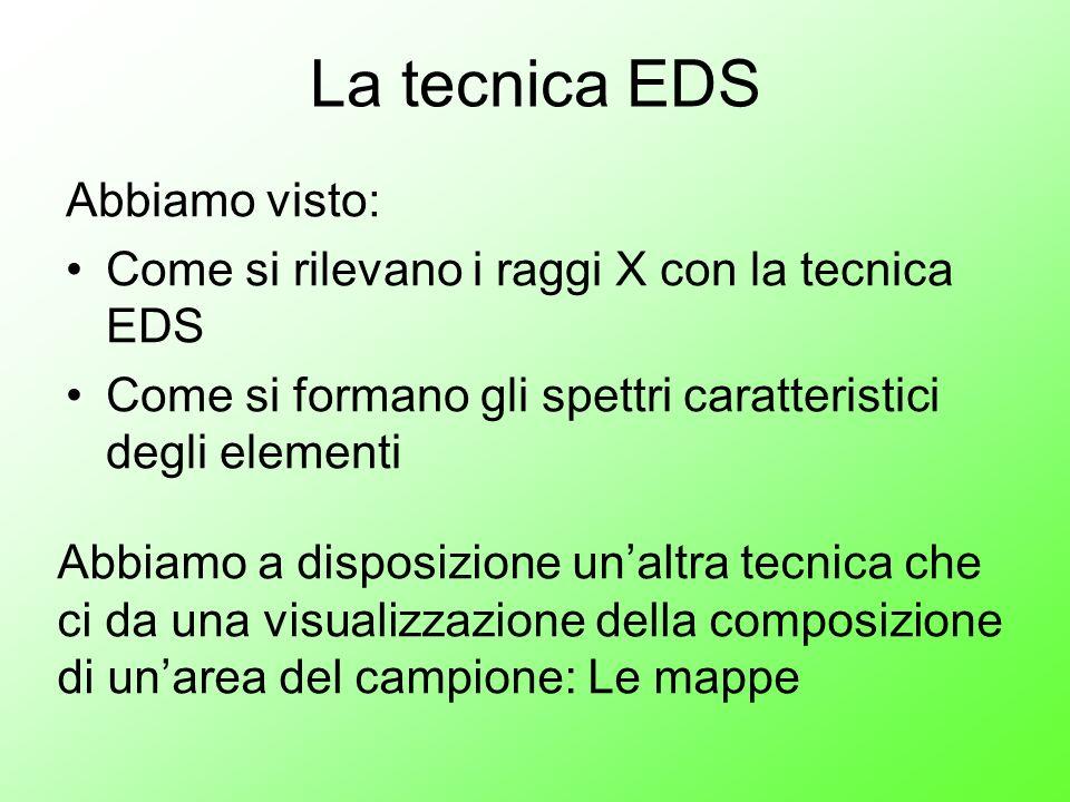 La tecnica EDS Abbiamo visto: