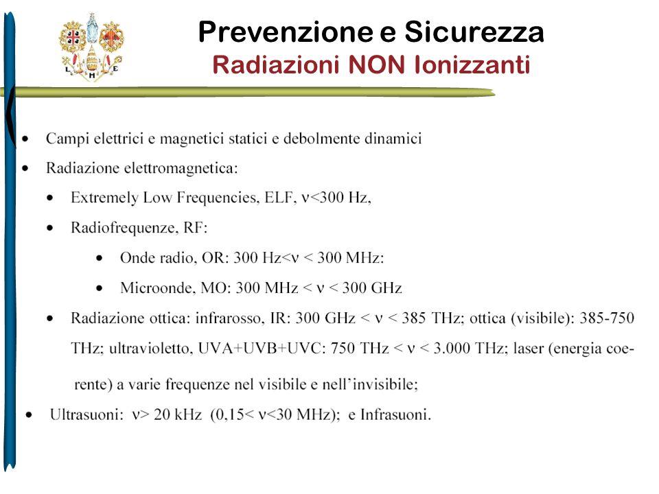 Prevenzione e Sicurezza Radiazioni NON Ionizzanti
