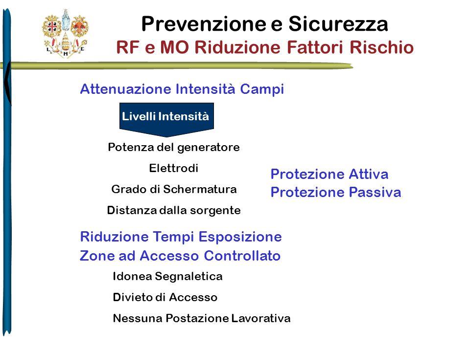 Prevenzione e Sicurezza RF e MO Riduzione Fattori Rischio