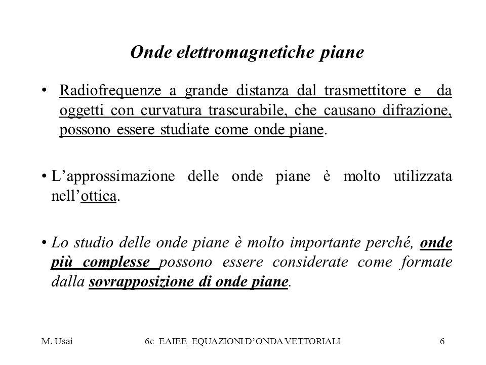 Onde elettromagnetiche piane