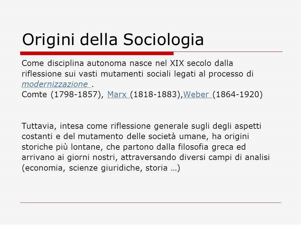 Origini della Sociologia
