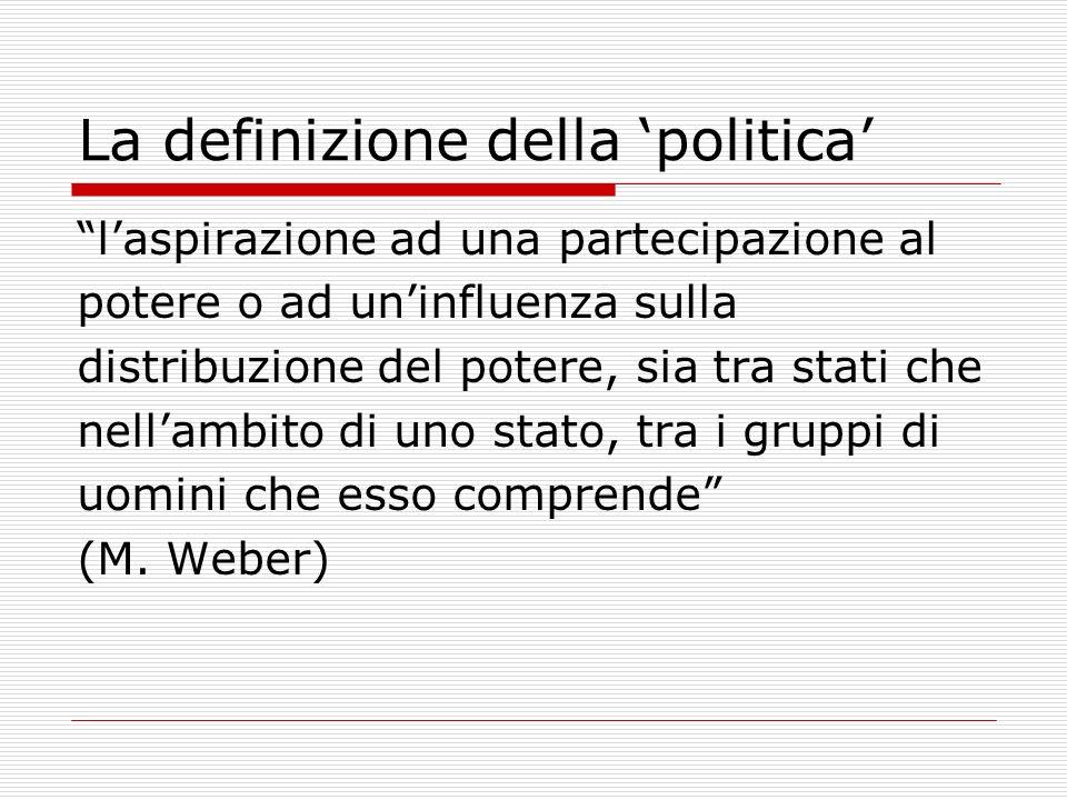La definizione della 'politica'