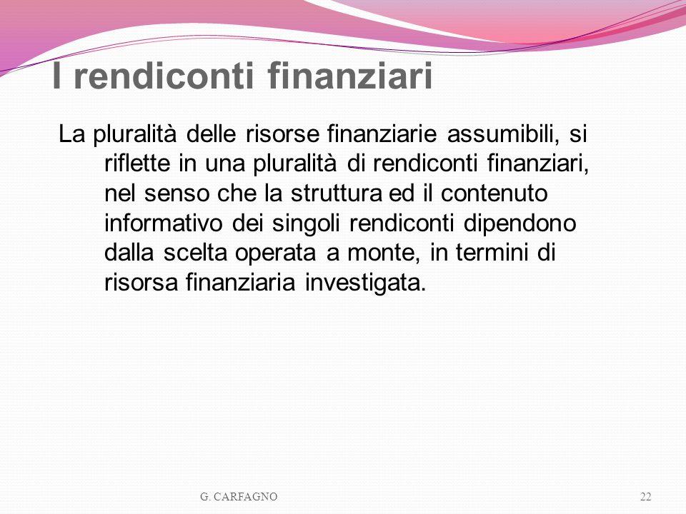 I rendiconti finanziari