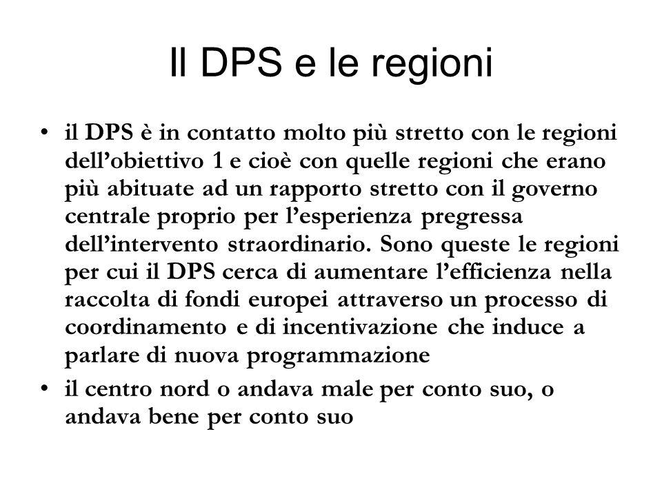 Il DPS e le regioni