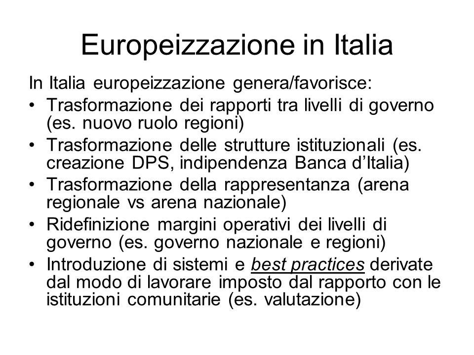 Europeizzazione in Italia
