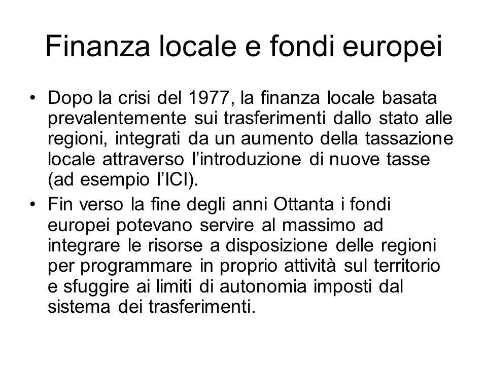 Finanza locale e fondi europei