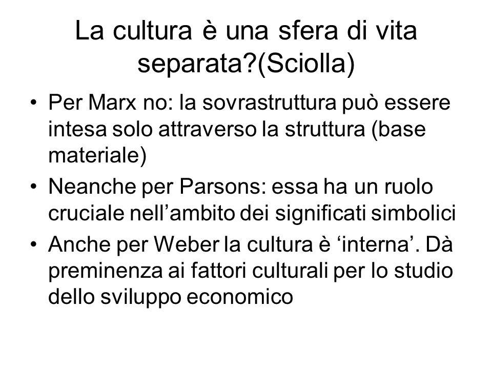 La cultura è una sfera di vita separata (Sciolla)