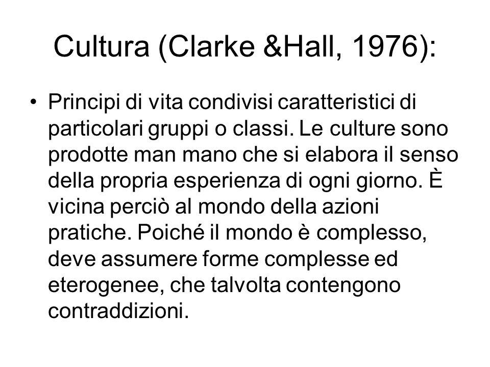 Cultura (Clarke &Hall, 1976):