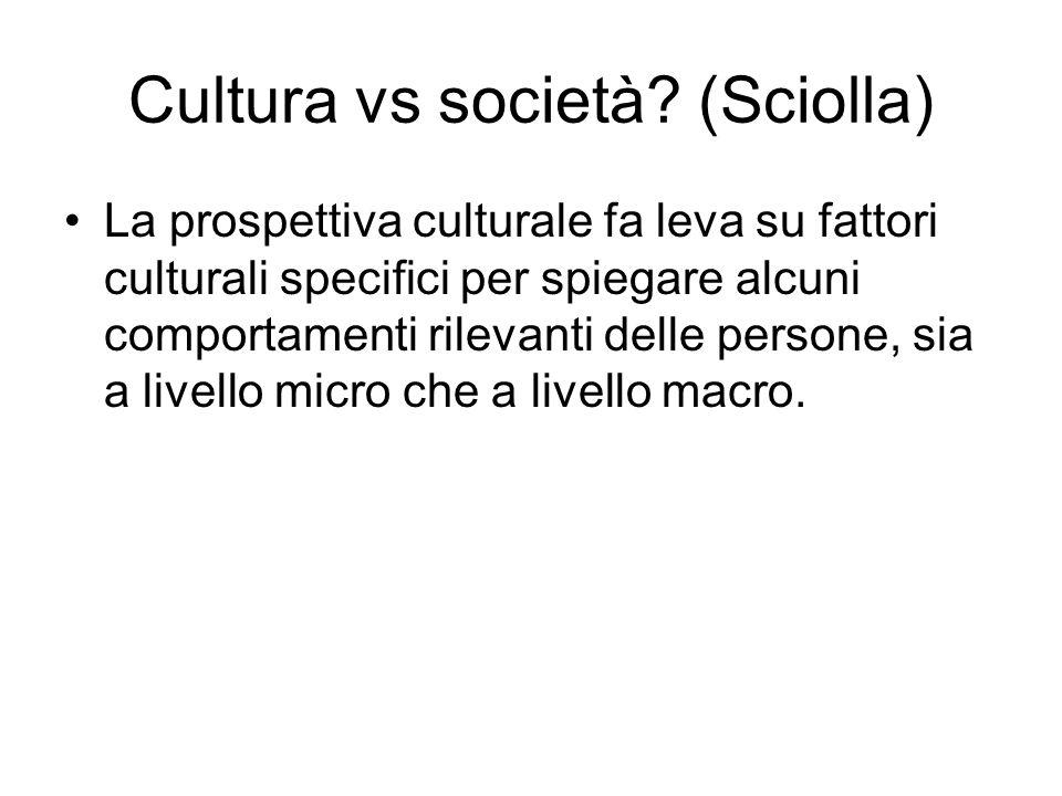 Cultura vs società (Sciolla)