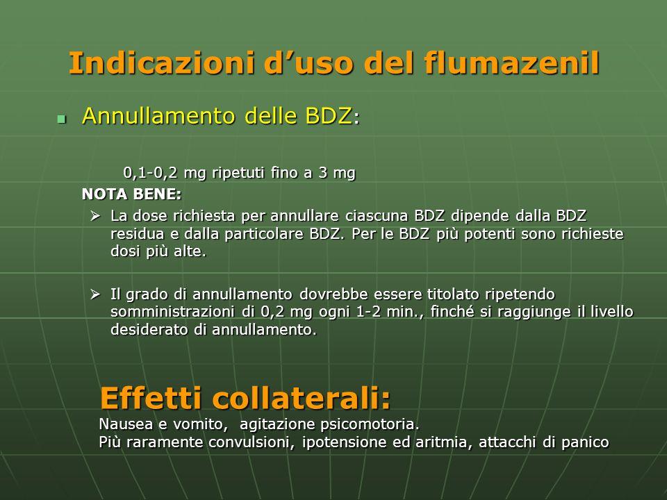 Indicazioni d'uso del flumazenil