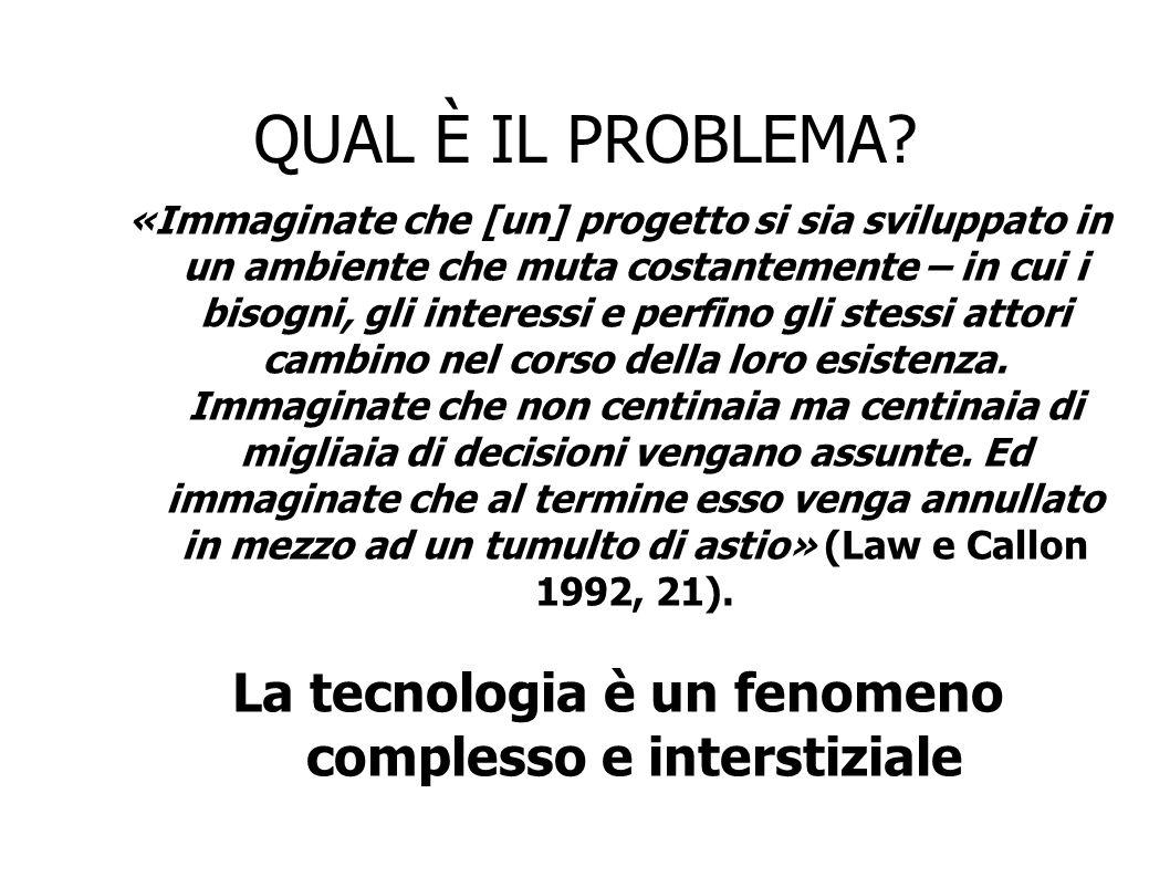 La tecnologia è un fenomeno complesso e interstiziale