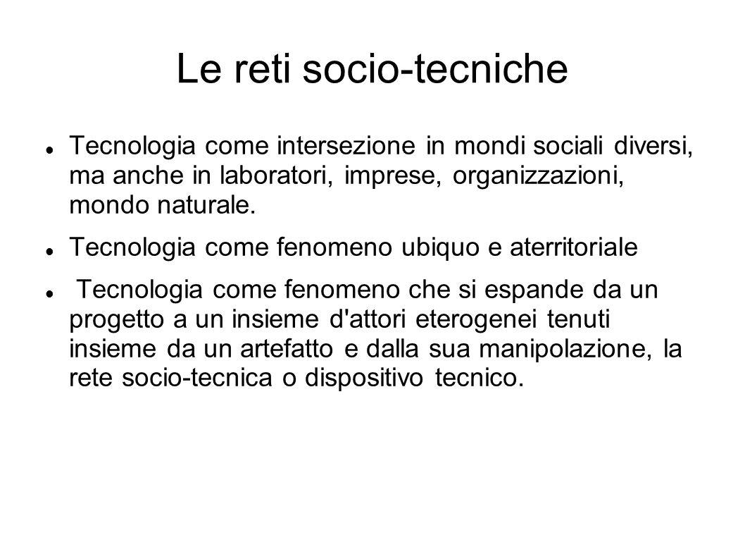 Le reti socio-tecniche