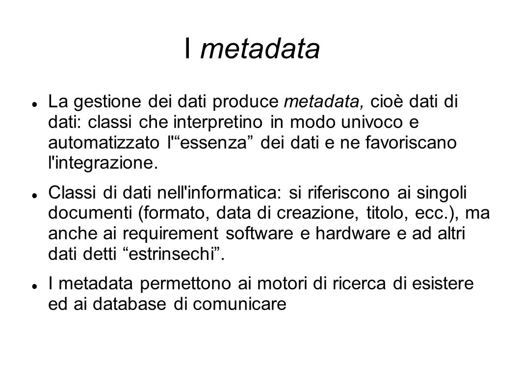I metadata
