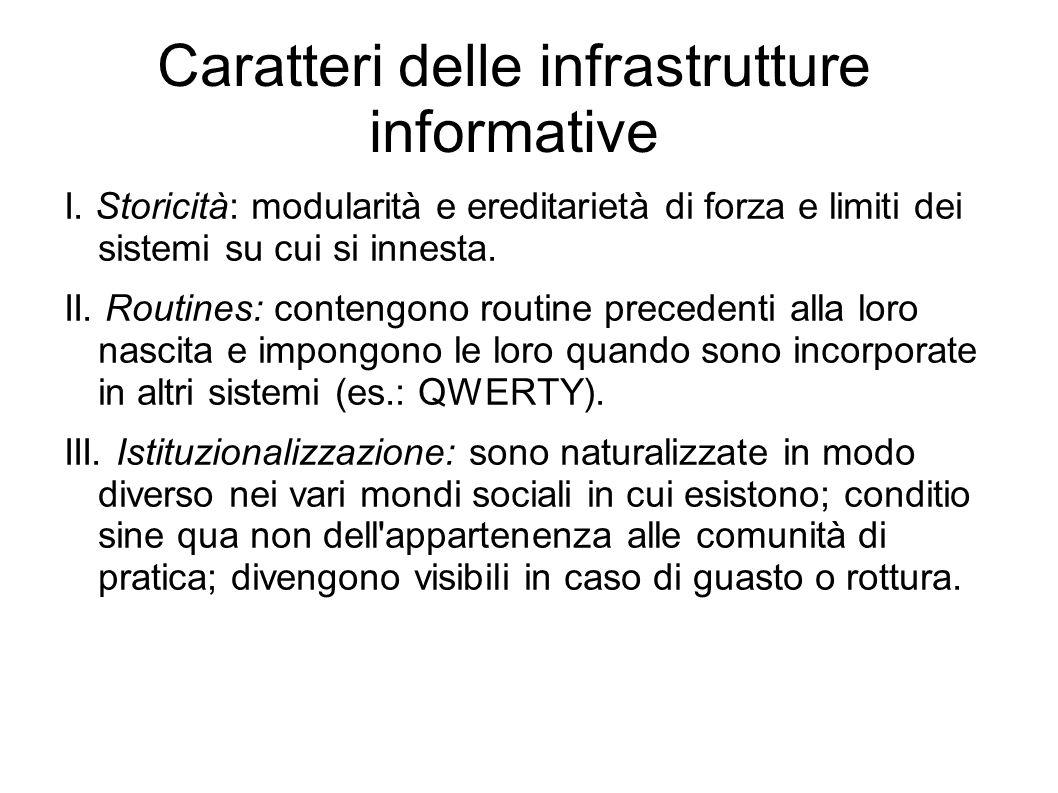 Caratteri delle infrastrutture informative