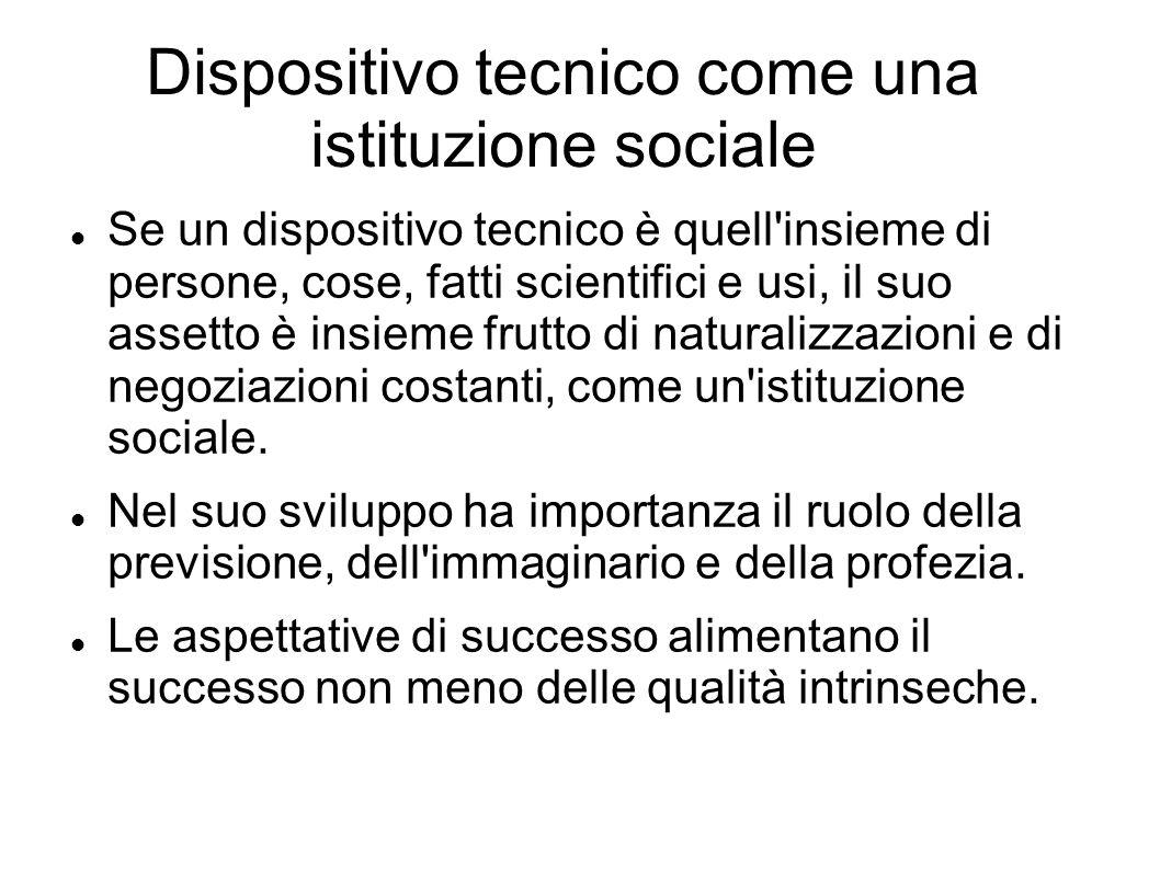 Dispositivo tecnico come una istituzione sociale