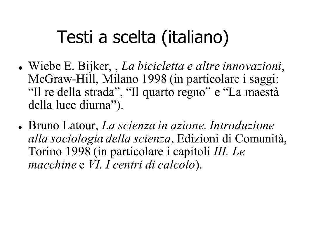 Testi a scelta (italiano)