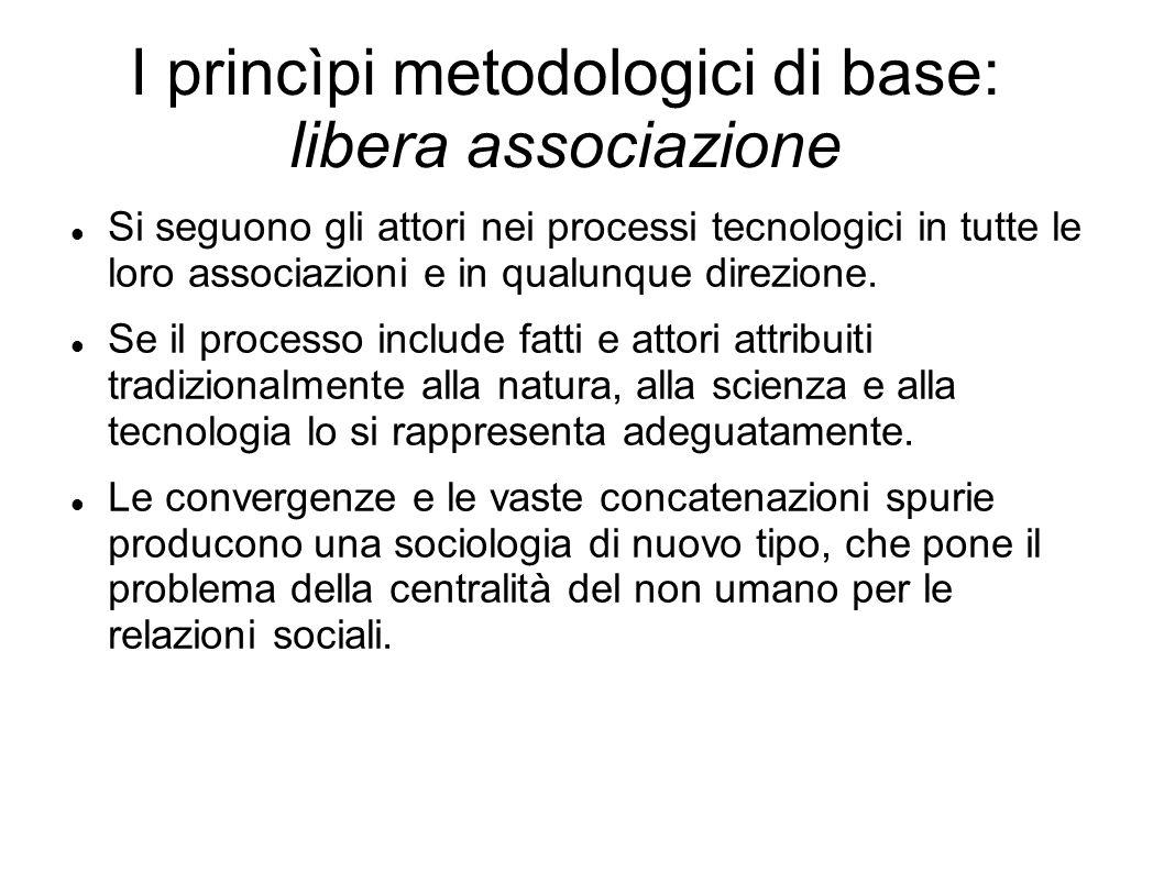 I princìpi metodologici di base: libera associazione