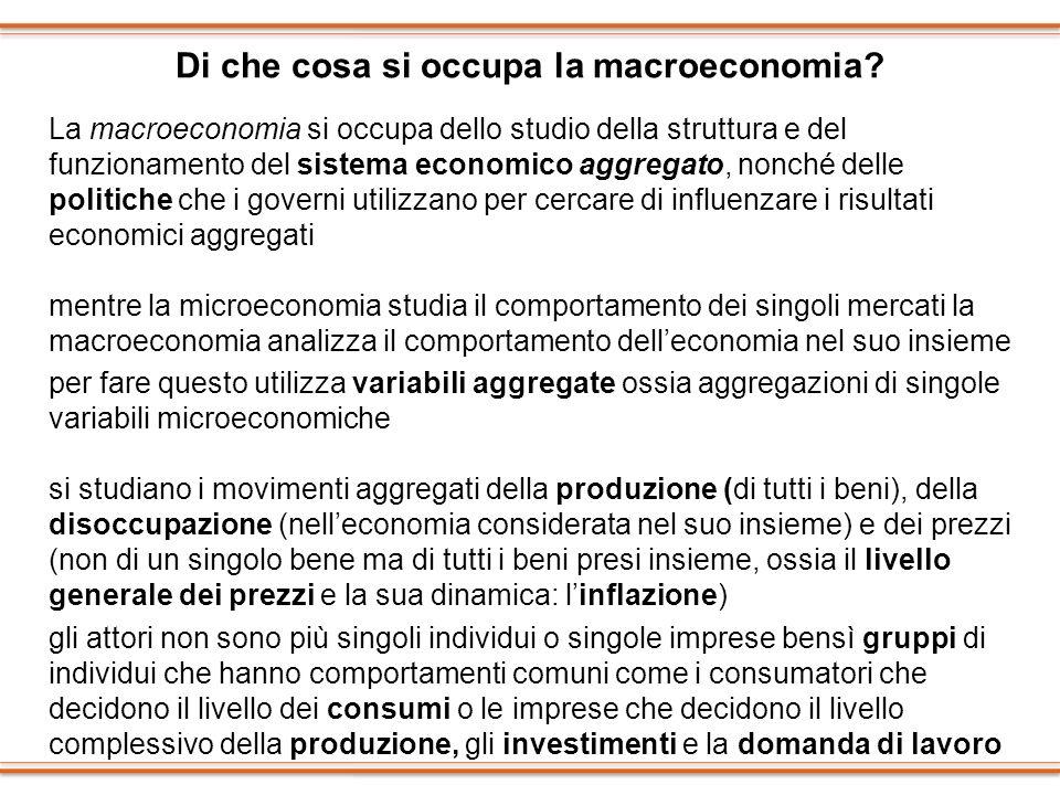 Di che cosa si occupa la macroeconomia