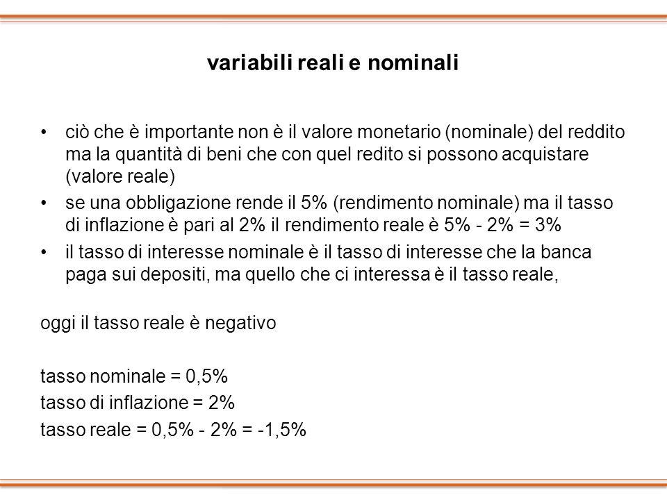 variabili reali e nominali