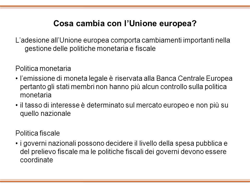 Cosa cambia con l'Unione europea